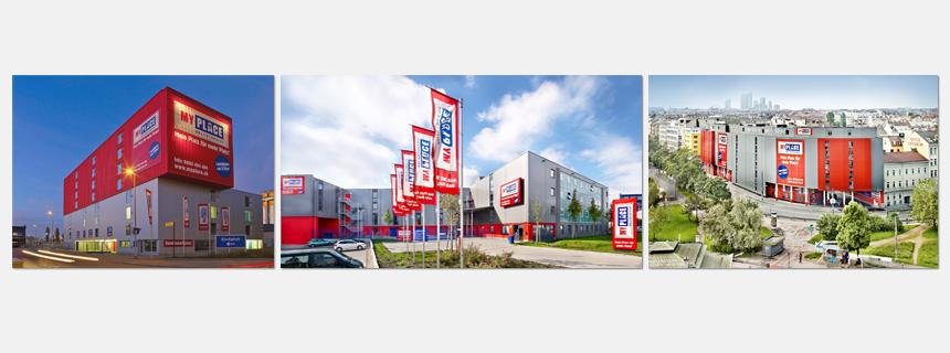 Gebäudegestaltung Österreich, Deutschland, Schweiz MyPlace - SelfStorage
