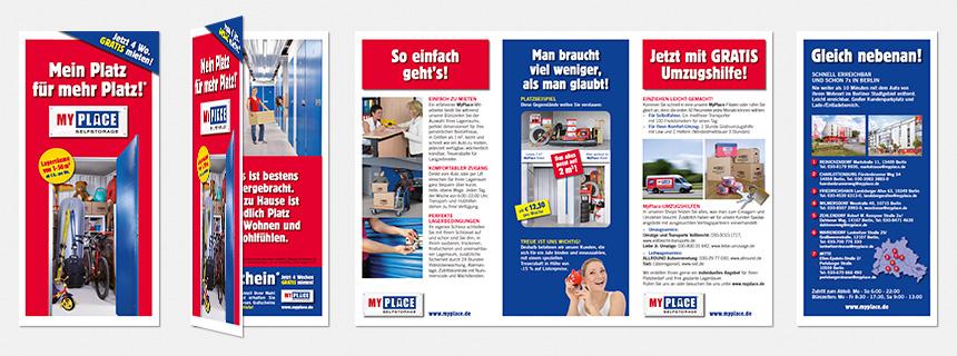 """Folder """"Mein Platz für mehr Platz"""" MyPlace - SelfStorage"""
