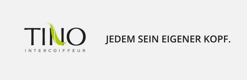 """Tino Intercoiffeur Logo - Slogan """"Jedem sein eigener Kopf."""""""