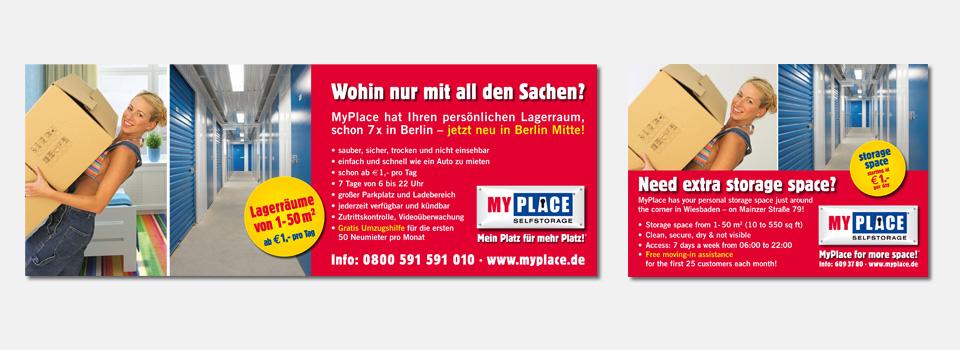Anzeigen MyPlace - SelfStorage