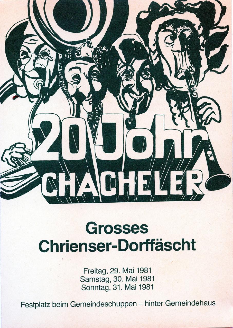 1981 Jubi Fäscht - 20 Johr Chacheler