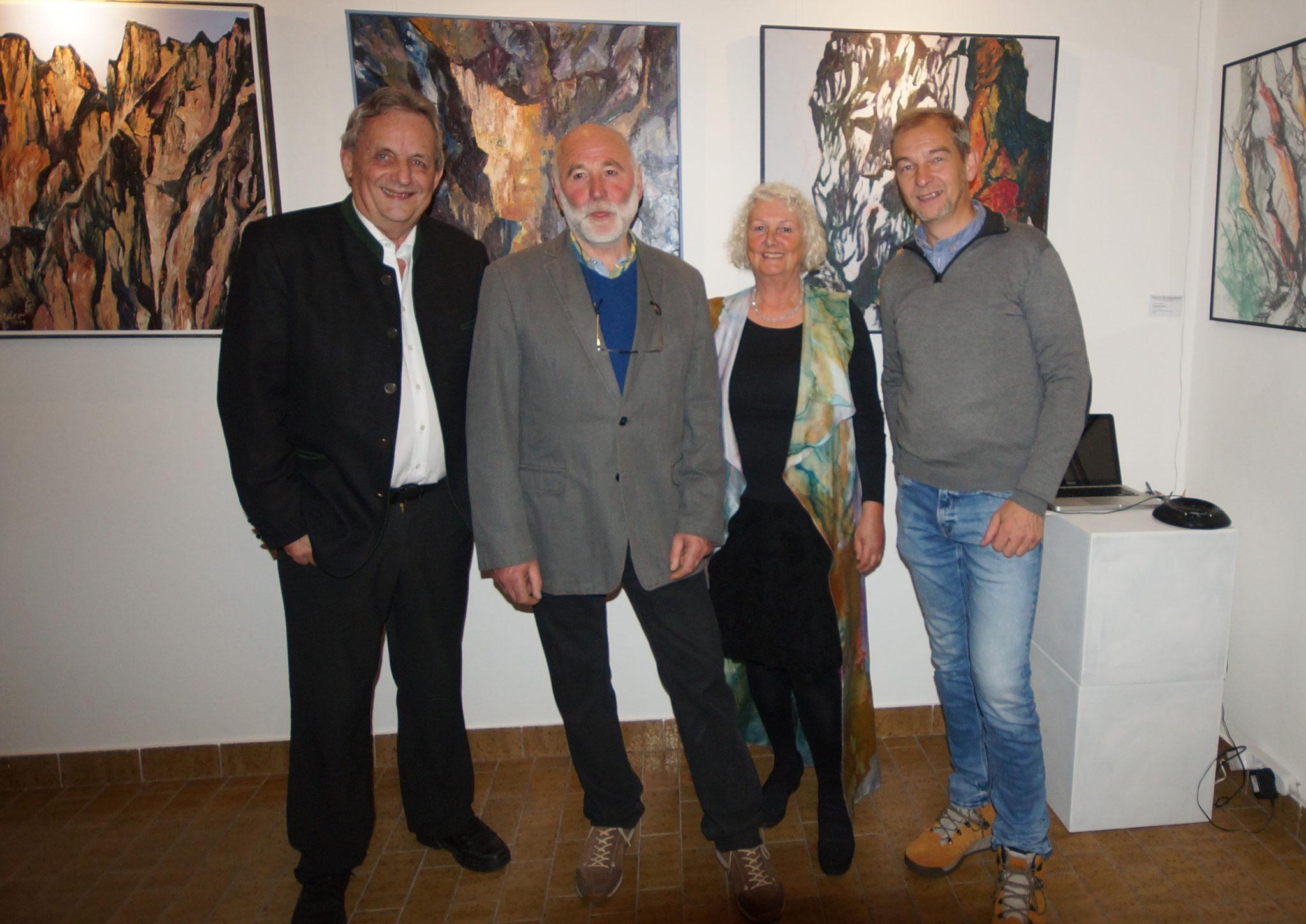 David Bullock, Georg Schreder, Roswitha Foch, Bgm. Hermann Rohrmoser