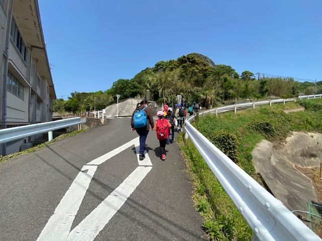 【馬渡島】馬渡小中学校 小学生歓迎遠足