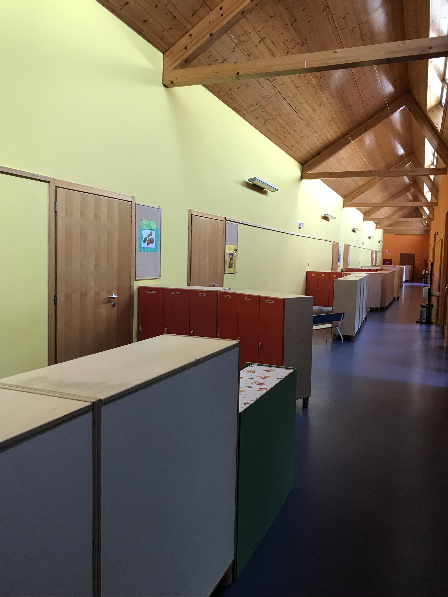 Corridoio Covid, con spazi riservati ad ogni classe