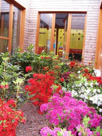 I fiori del giardino interno