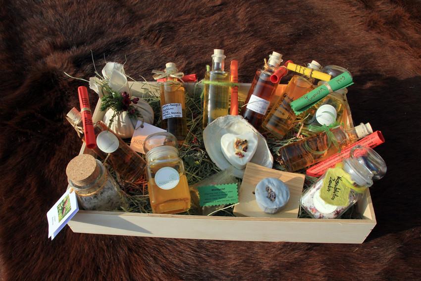 Geschenbox  Körperpflegeprodukte mit Balsamen
