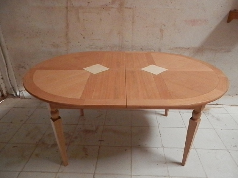 Table en merisier décapée