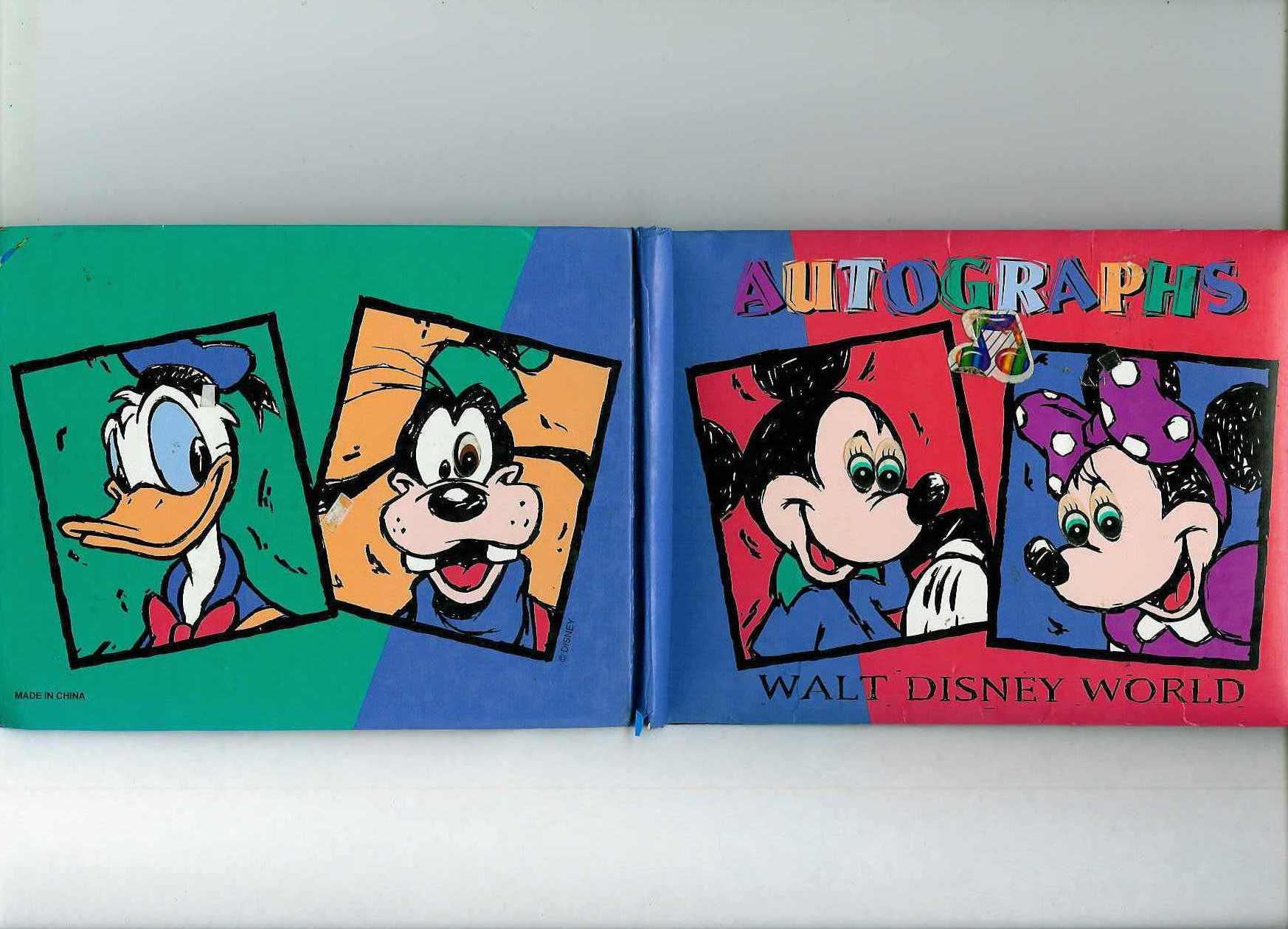 Libro de Firmas Disneyland intervenido con Calcomanías