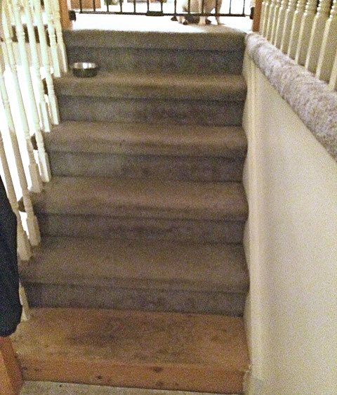 stairs before refinish