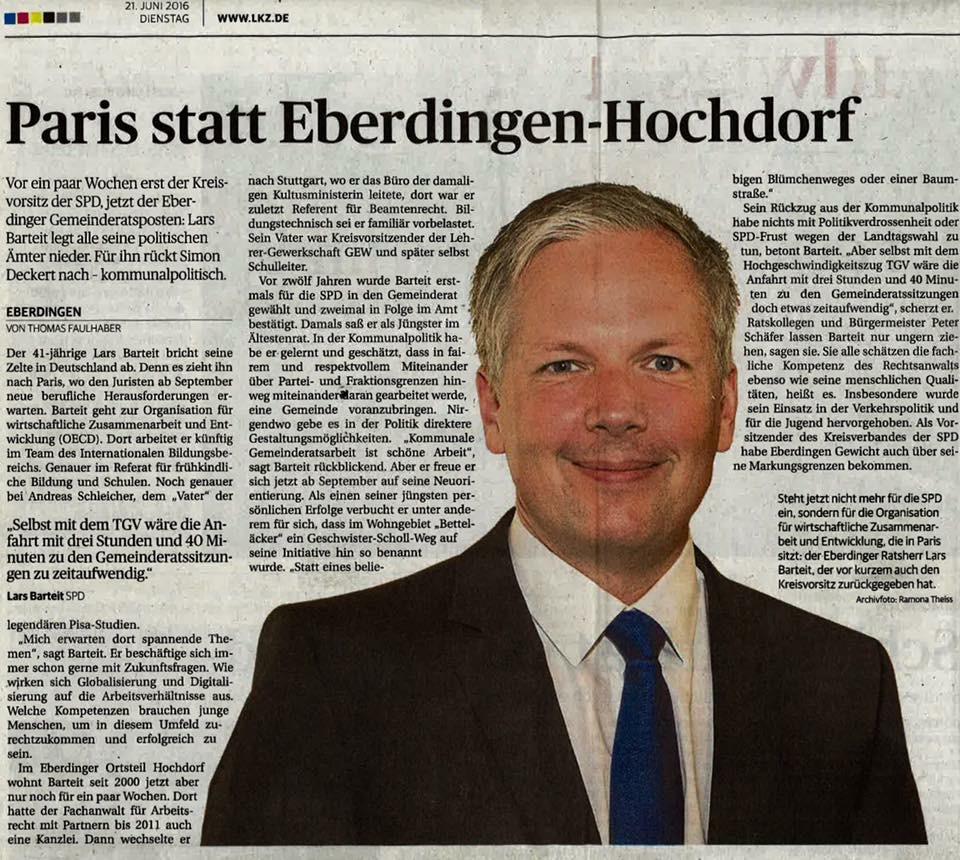 Artikel in der Ludwigsburger Kreiszeitung von Thomas Faulhaber