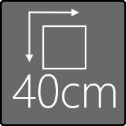 Das Außenmaß beträgt 40x40cm