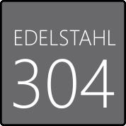 Die Brause samt Montagerahmen ist aus rostfreiem SS304 Edelstahl produziert