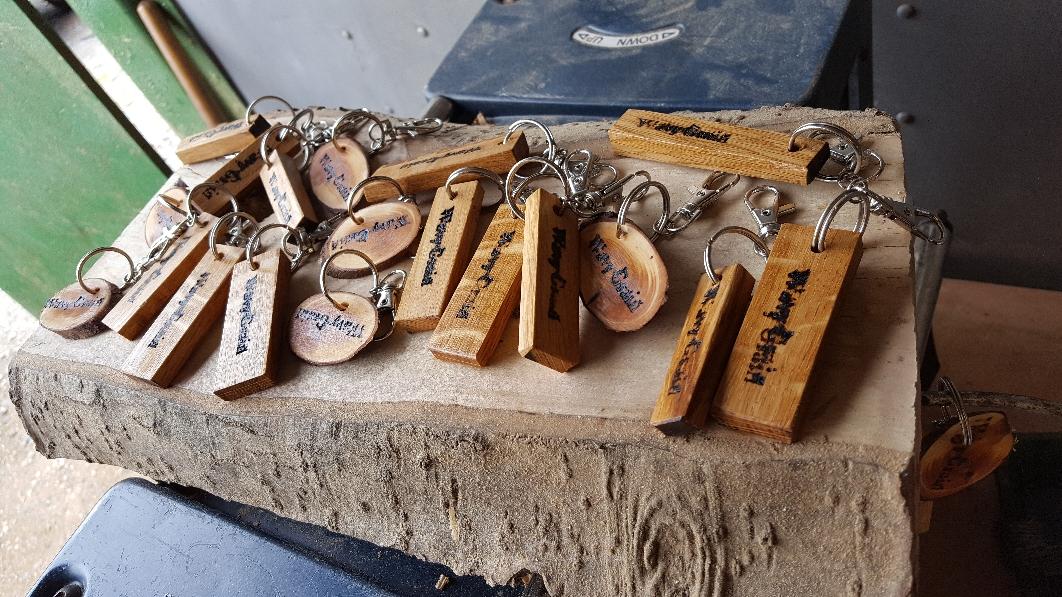 WavyGrain personalised wood keyrings