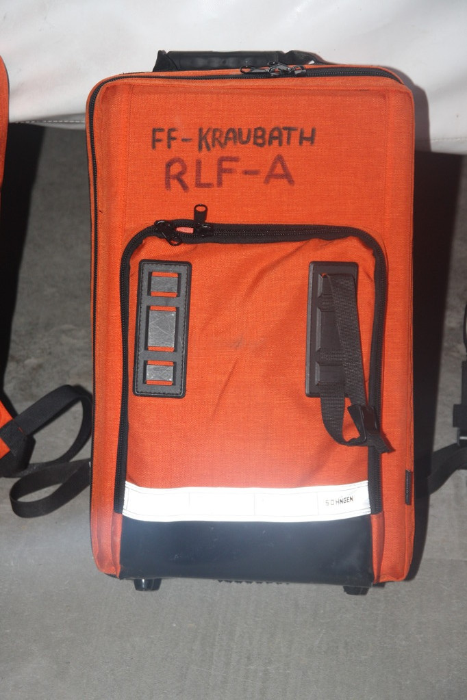 Rucksack Rüstlöschfahrzeug mit Sauerstoffeinheit