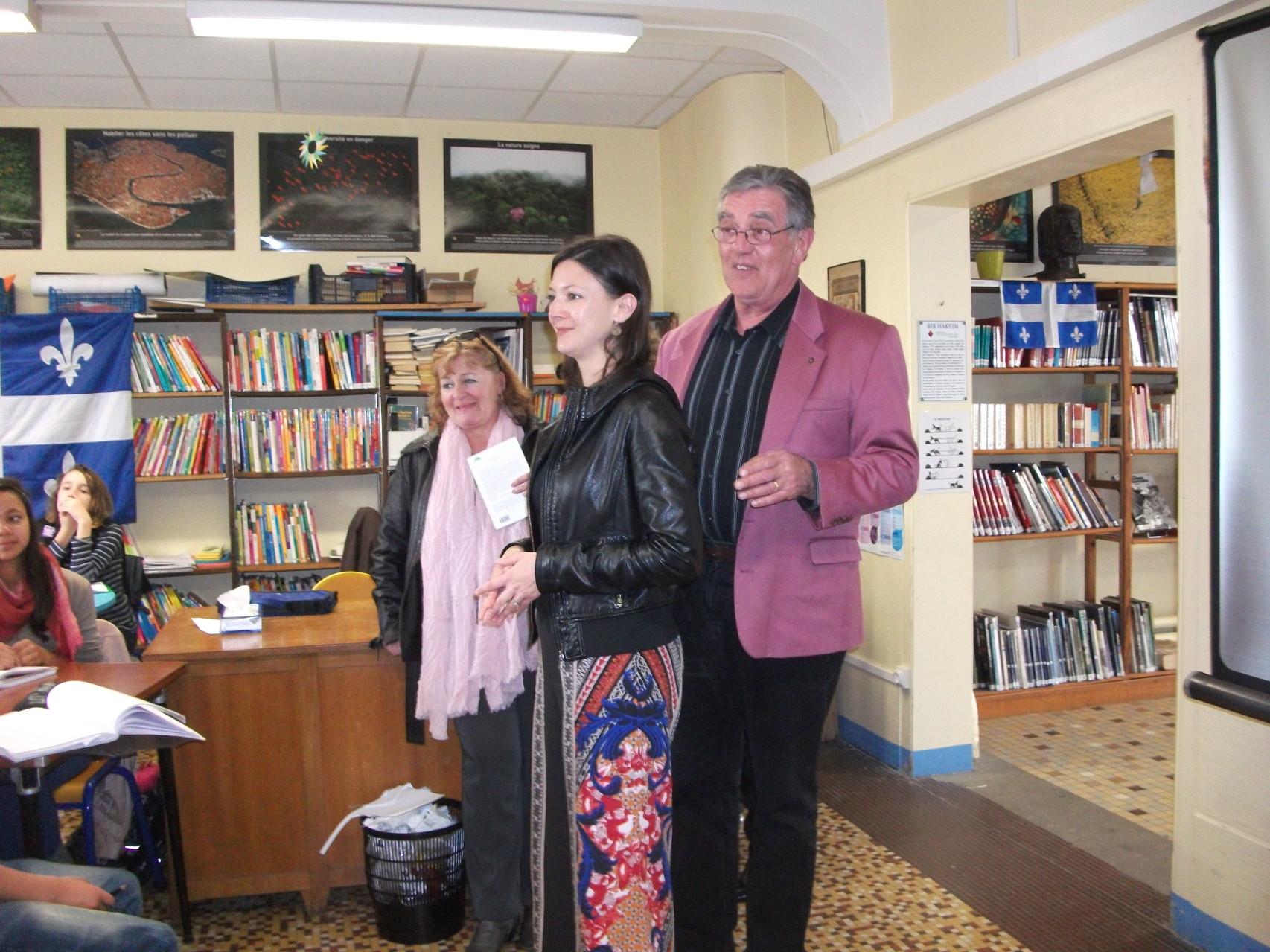 Accueil de la lauréate Marie-Hélène POITRAS