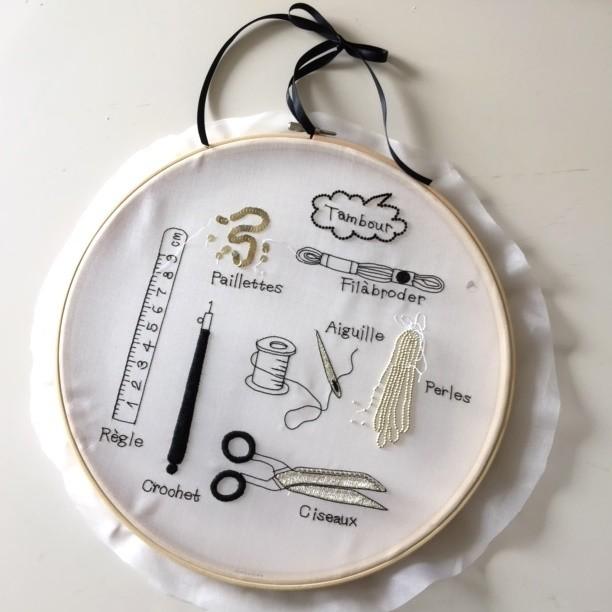 Lesson1 刺繍道具の刺繍