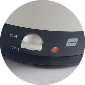 Ein-Aus-Schalter und Kontrollleuchte Flaschen Sterilisator Mam