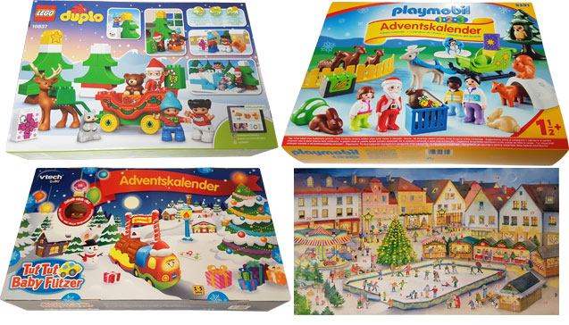 Welcher Adventskalender ist für Kleinkinder bis 3 Jahre der Beste? Adventskalender zum Selberfüllen, Adventskalender zum Spielen oder Adventskalender mit Büchern?