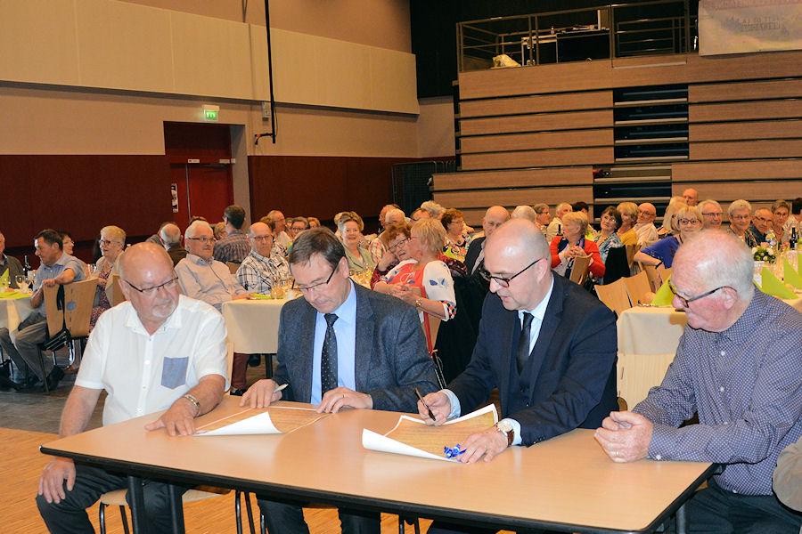 MM.Marcel Piednoir, Michel Lefeuvre, Jean-Noël Bevière et Joseph Marion