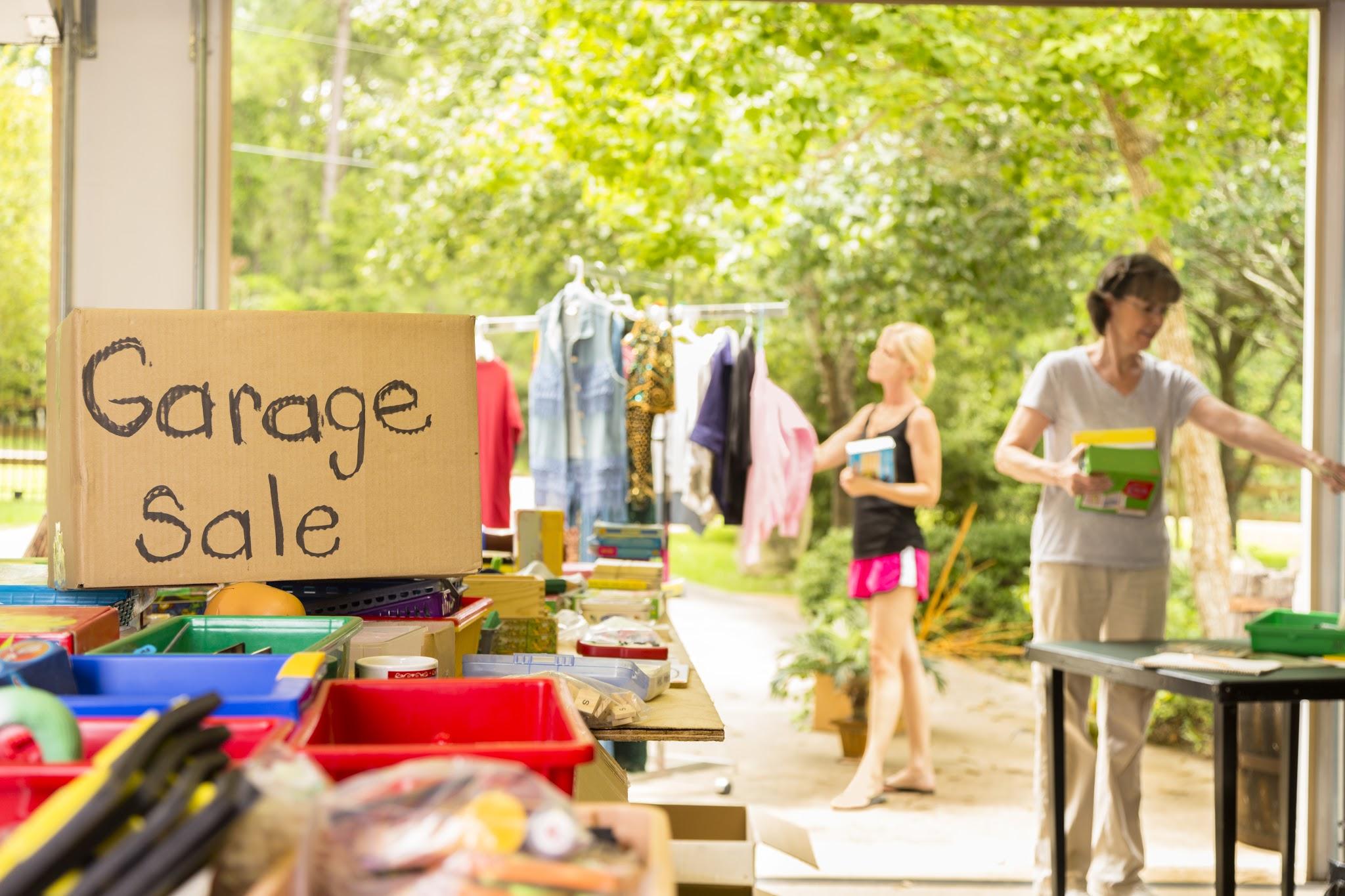 Consejos para organizar una venta de garage
