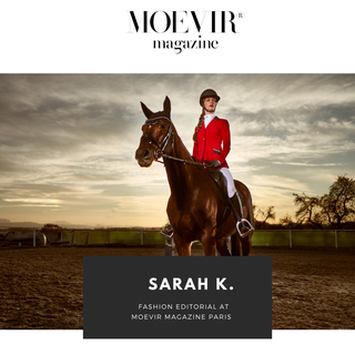 Paris: Sarah K. with a 6 pages editorial at Moevir magazine