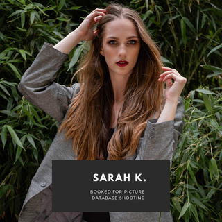 Sarah K. booked for picture database shoot