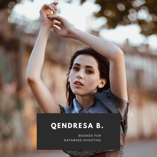 Qendresa booked for a picture database shooting!
