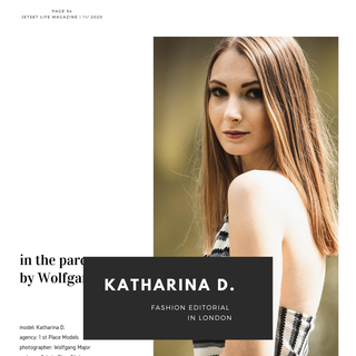 London: Katharina D. - 4 pages editorial in fashion magazine