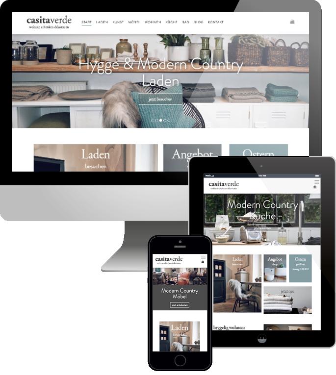 Jimdo responsive Web Design casitaverde Webshop