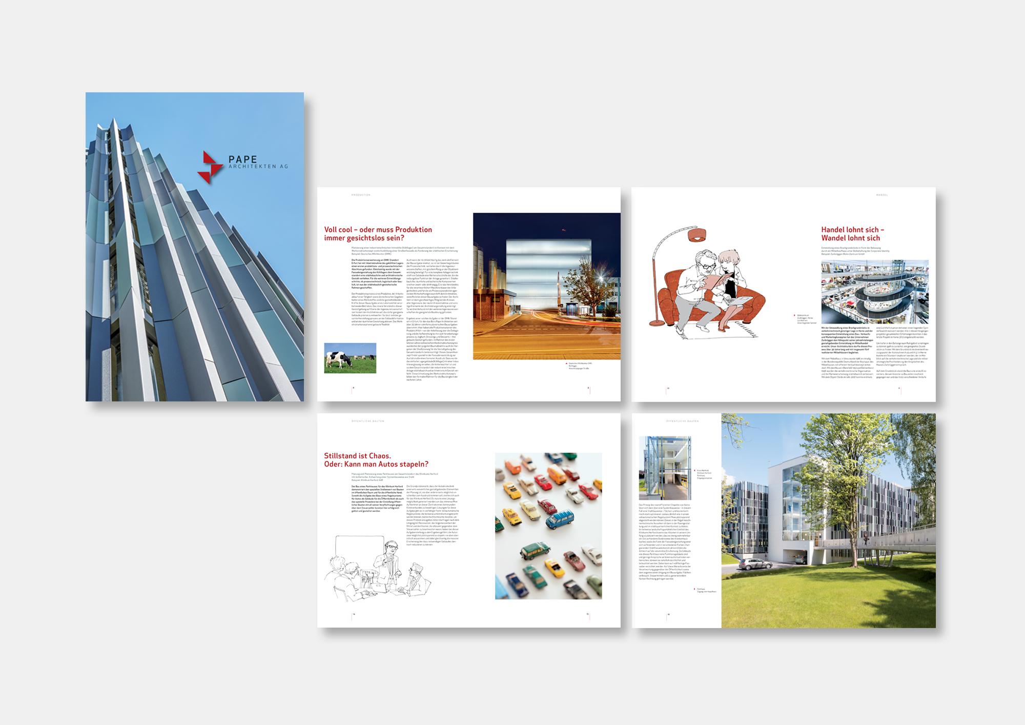 PAPE ARCHITEKTEN AG · Relaunch Erscheinungsbild inklusive Unternehmensbroschüre