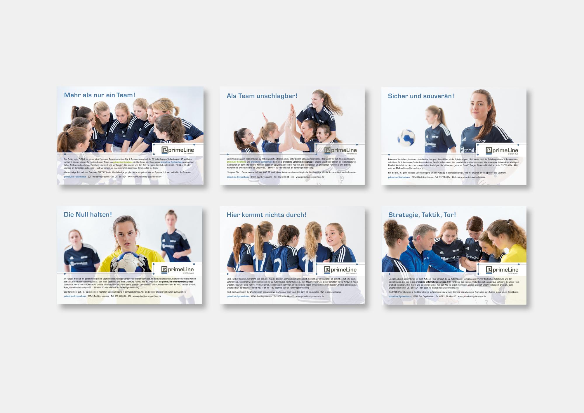 PrimeLine Systemhaus · Imagekampagne mit der 1. Damenmannschaft der SV Kutenhausen-Todtenhausen 07