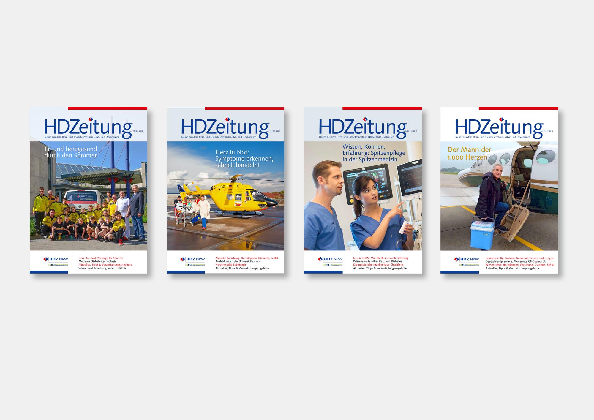 Herz- und Diabeteszentrum NRW Bad Oeynhausen · Klinikmagazin HDZeitung · Produktion in Zusammenarbeit mit der Presse- und Öffentlichkeitsarbeit HDZ