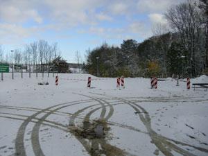 Der erste Schnee zwang uns zu einer vorzeitigen Winterpause.