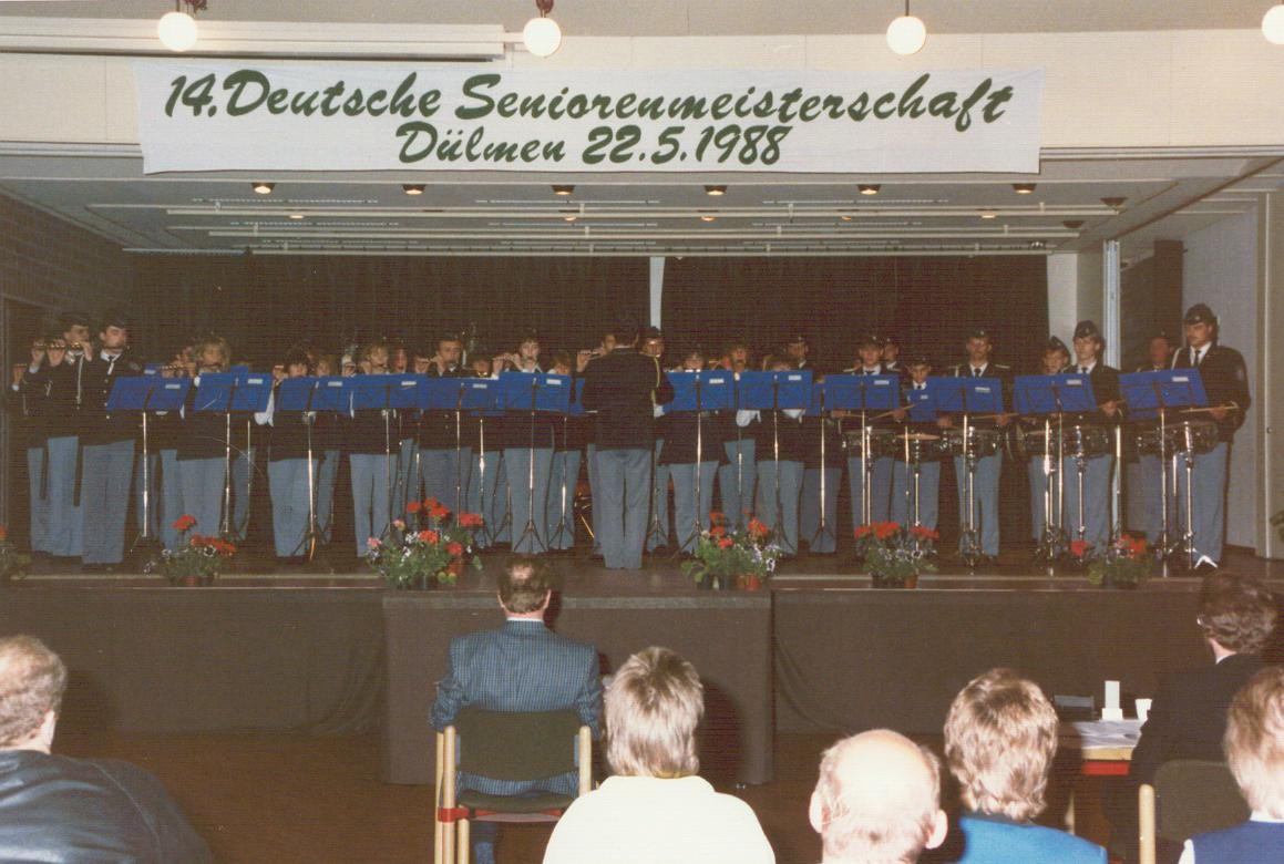 Deutsche Meisterschaft in Dülmen - 1988 - Spielmannszug wurde Deutscher Meister
