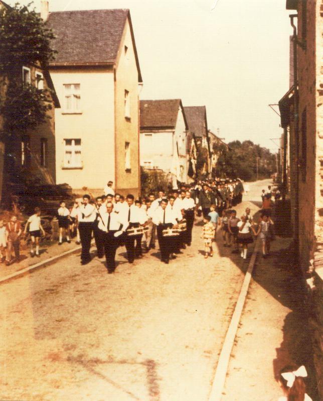 Erster Auftritt auf der Binninger Kirmes - 1960