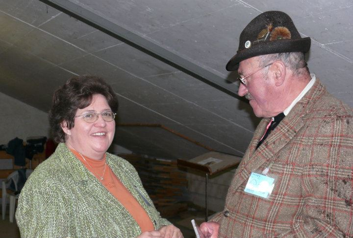 Lange Zeit hatte sie (hier mit ihrem Mann) die Turnierleitung beim Voltigierturnier im Rahmen der Pferd International inne.