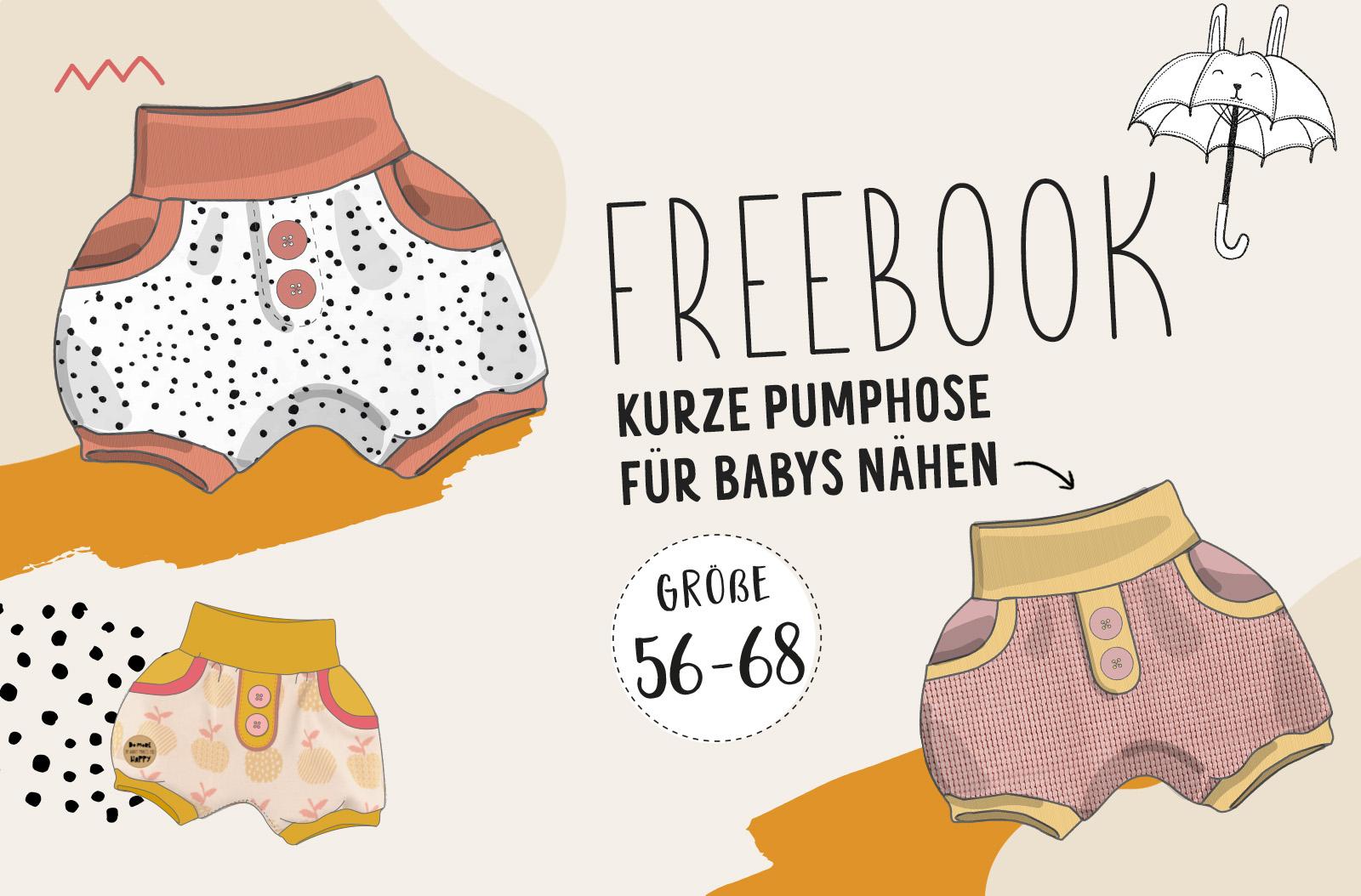 FREEBOOK: kurze Baby Pumphose 2.0