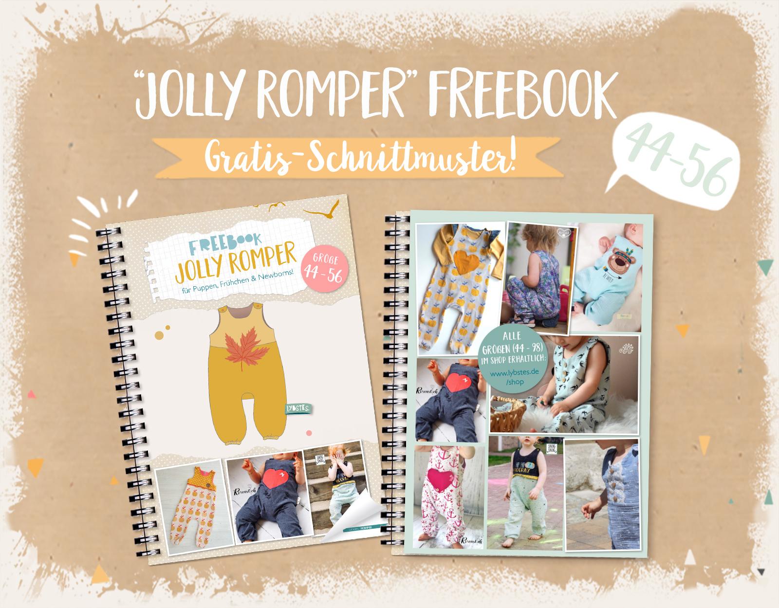 FREEBOOK: Jolly Romper - der Strampler (Gr. 44 - 56)