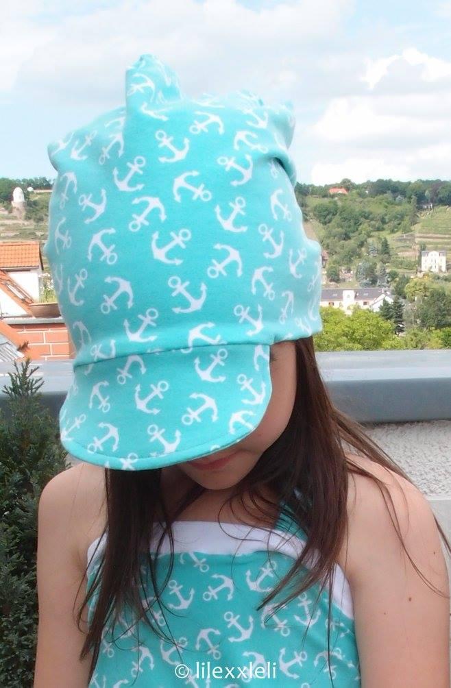Schirmbeanie Freebook! Lybstes Beanie mit Schirm umsonst nähen (Foto: Sarah)