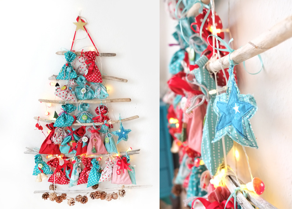 selbst gen hter adventskalender am treibholz weihnachtsbaum lybstes. Black Bedroom Furniture Sets. Home Design Ideas