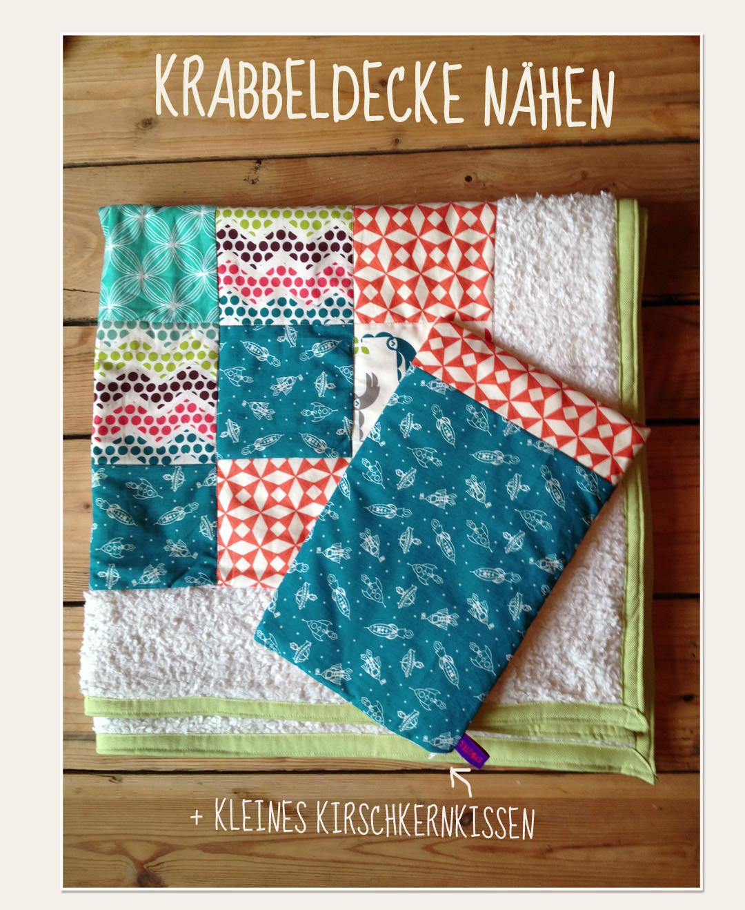 Krabbel-Babydecke im Patchwork-Style - Lybstes.