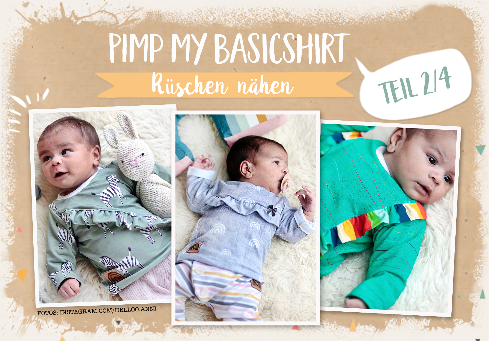 Pimp my Basicshirt 2/4: Rüschen nähen
