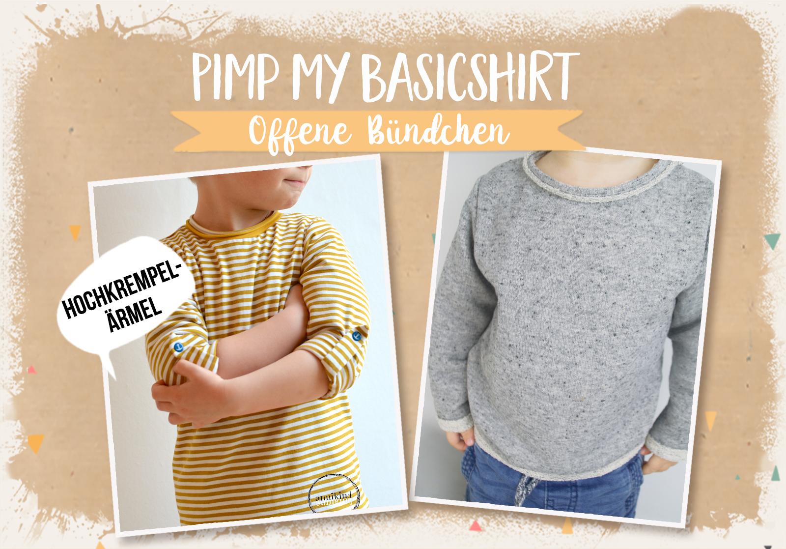 Pimp my Basicshirt 4/4: Offene Bündchen & Hochkrempel-Ärmel