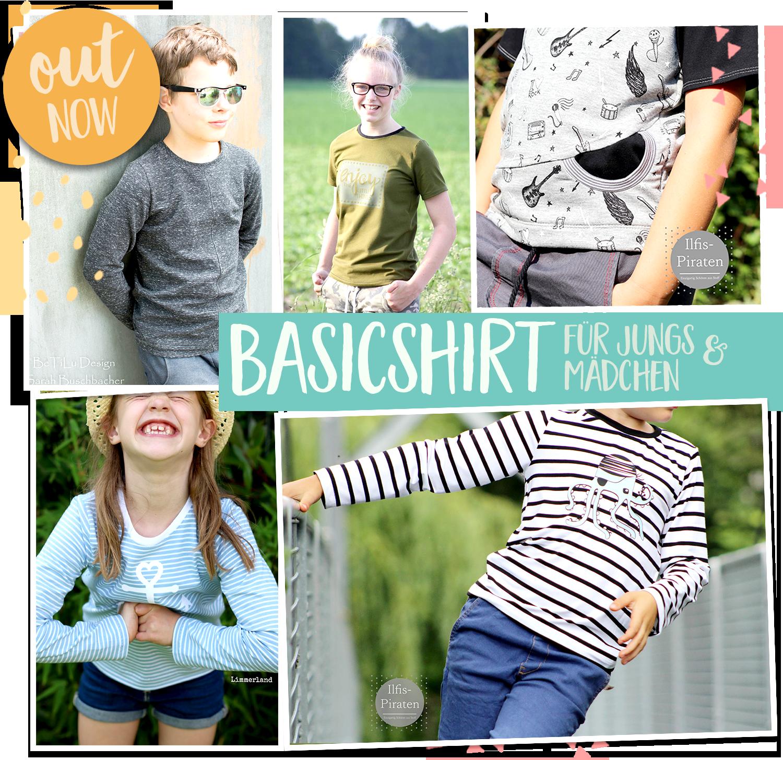 OUT NOW: Das Basicshirt für Kids (Gr. 122 - 164)