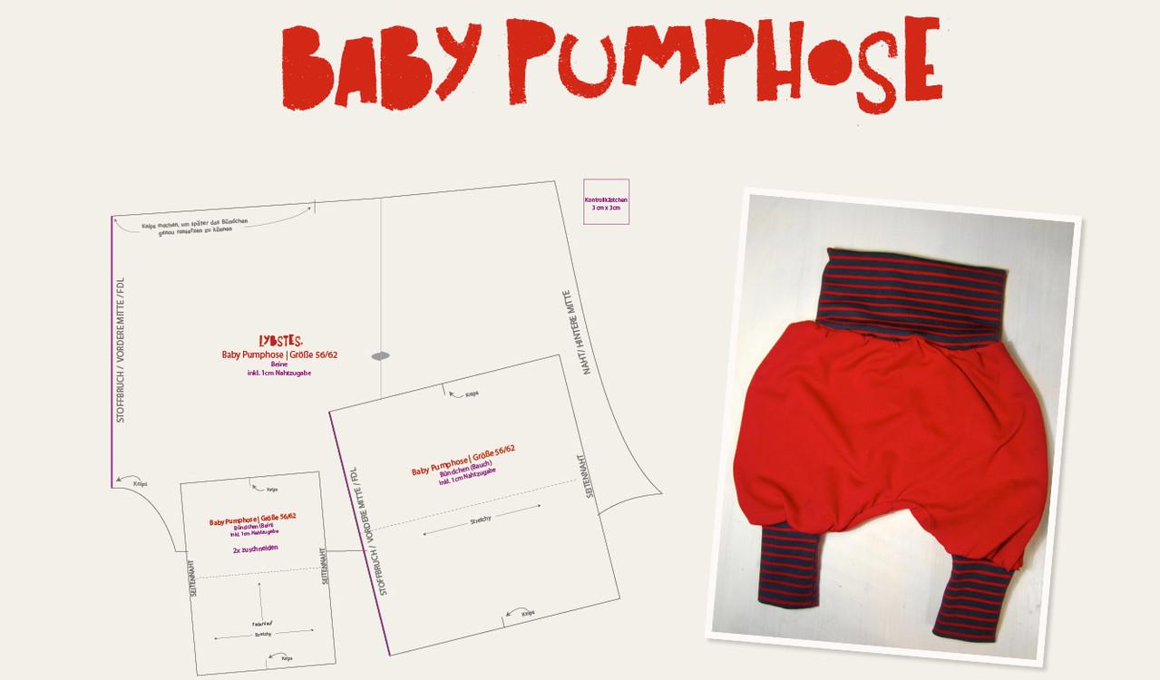 Baby Pumphose selber nähen - Lybstes.