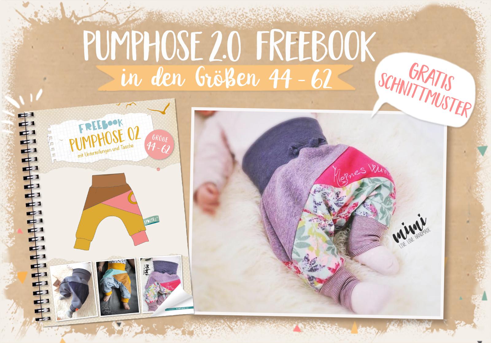 FREEBOOK: Pumphose 2.0 mit Dreiecken in Gr. 44 - 62