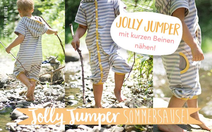 Sommer-Jolly-Jumper mit kurzen Beinen nähen