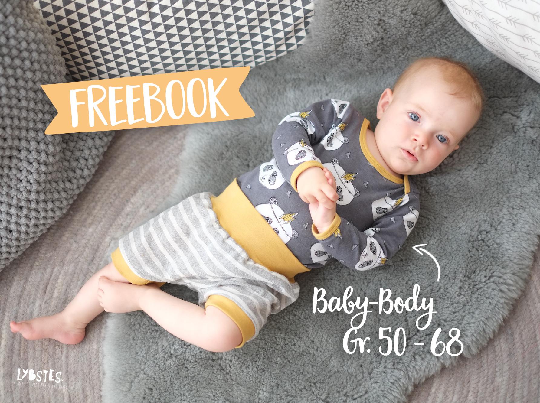 FREEBOOK: Babybody mit amerikanischem Ausschnitt (Gr. 50 - 68)