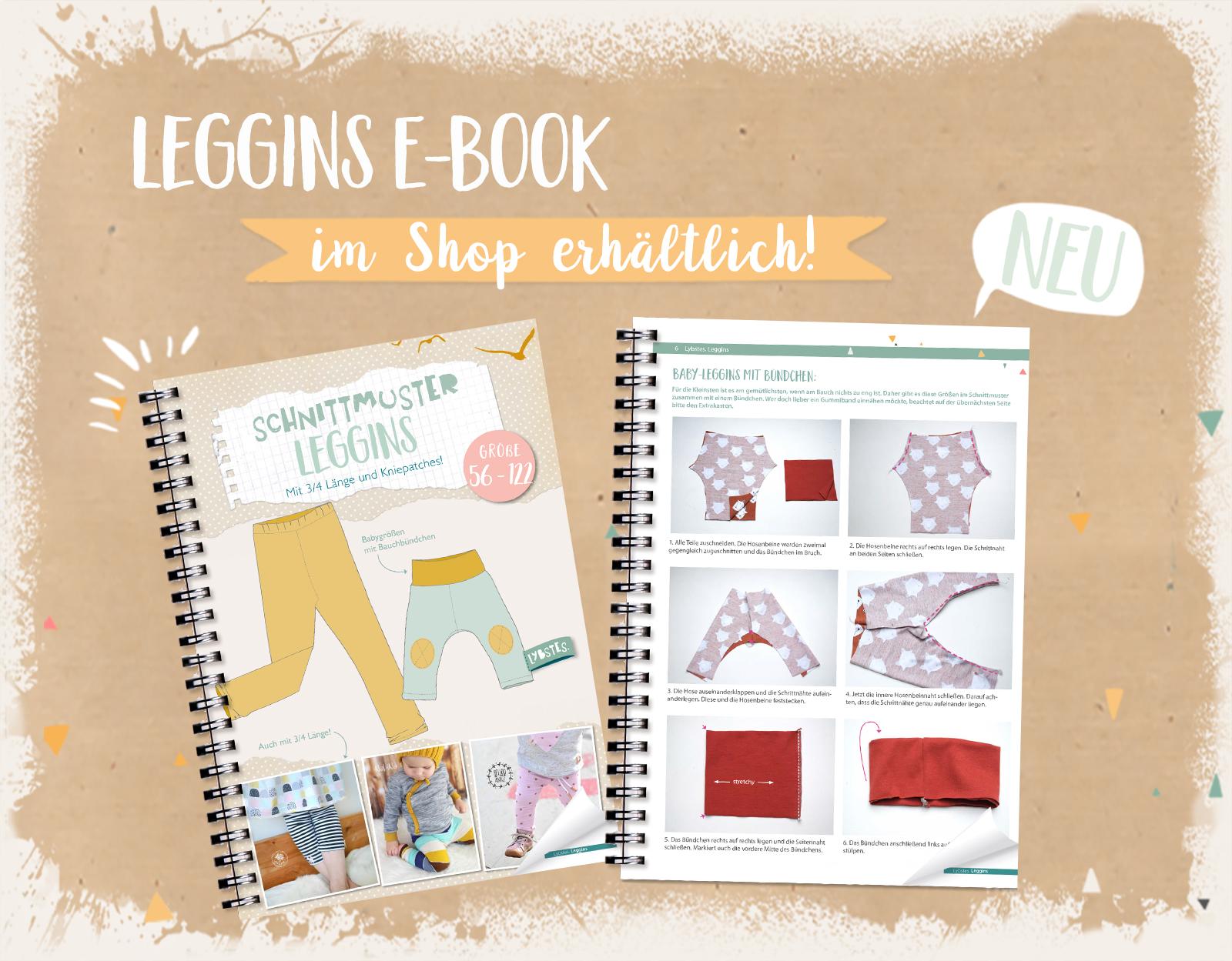 OUT NOW:  Leggins E-Book in den Gr. 56 - 122