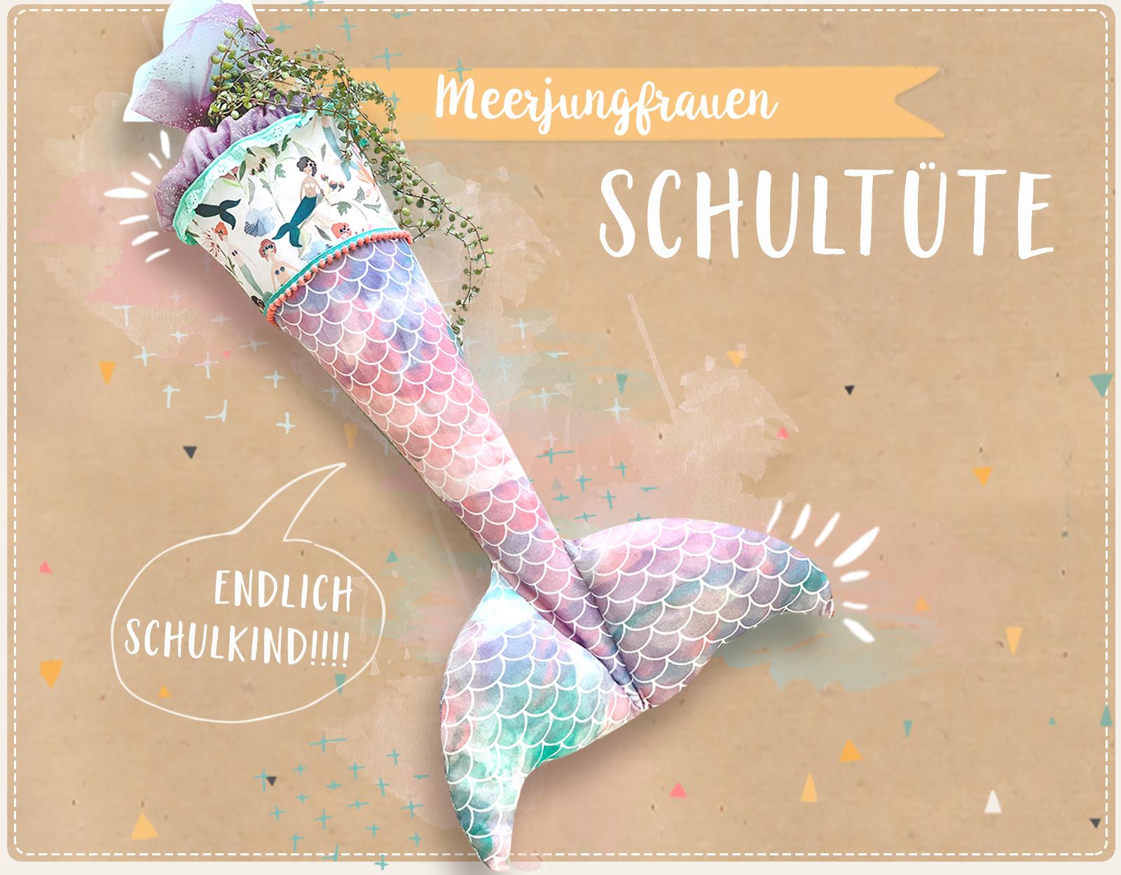 Eine Meerjungfrauen-Schultüte für unsere Große!